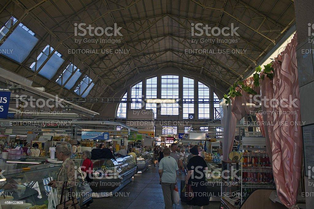 Central food market in Riga stock photo