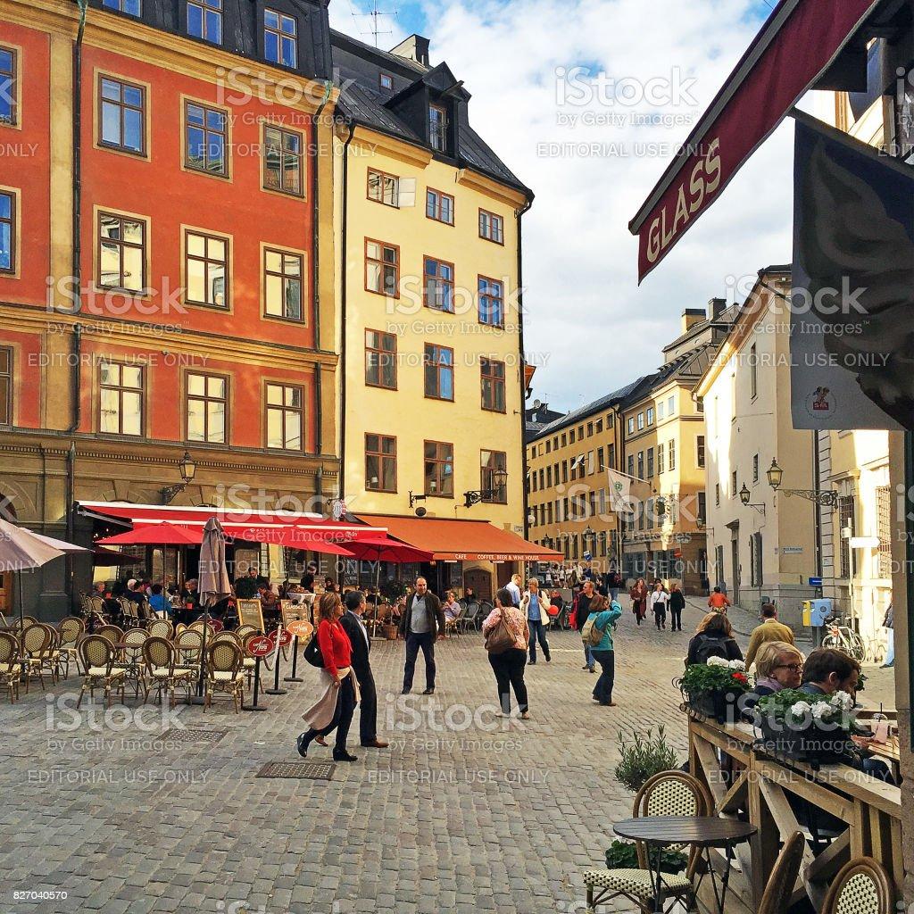 Central Gamla Stan, Stockholm, Sweden stock photo