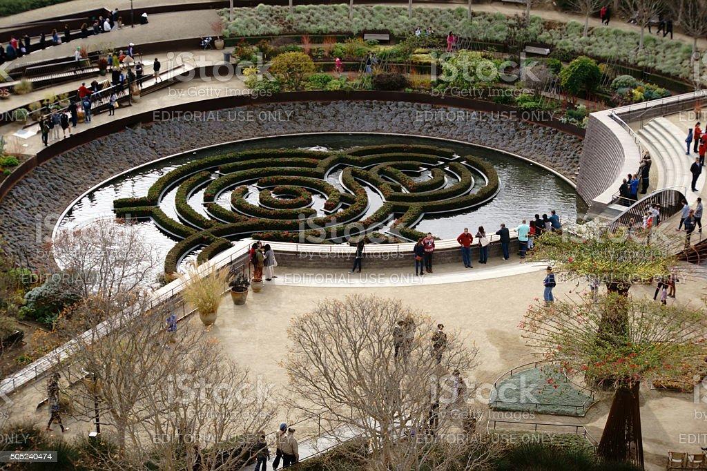 Central Garden Getty Center stock photo