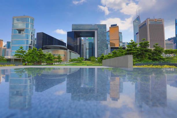 香港的中央政府大樓。圖像檔