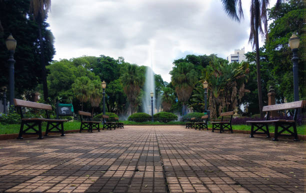 Zentralen Grünfläche in Ribeirão Preto Stadt im Bundesstaat São Paulo, Brasilien. – Foto