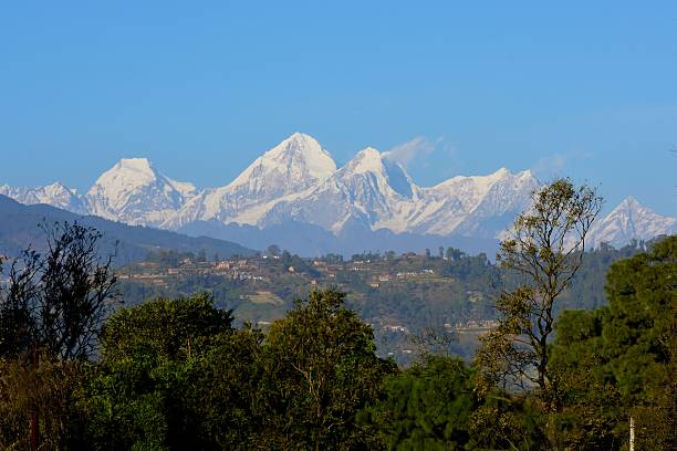 Central Himalayan Mountains stock photo