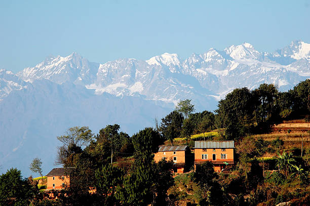 Central Himalayan View stock photo