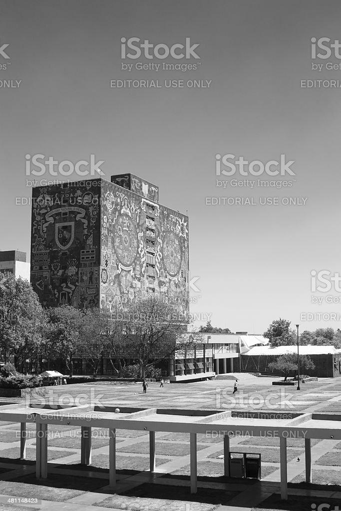 UNAM Central Library stock photo