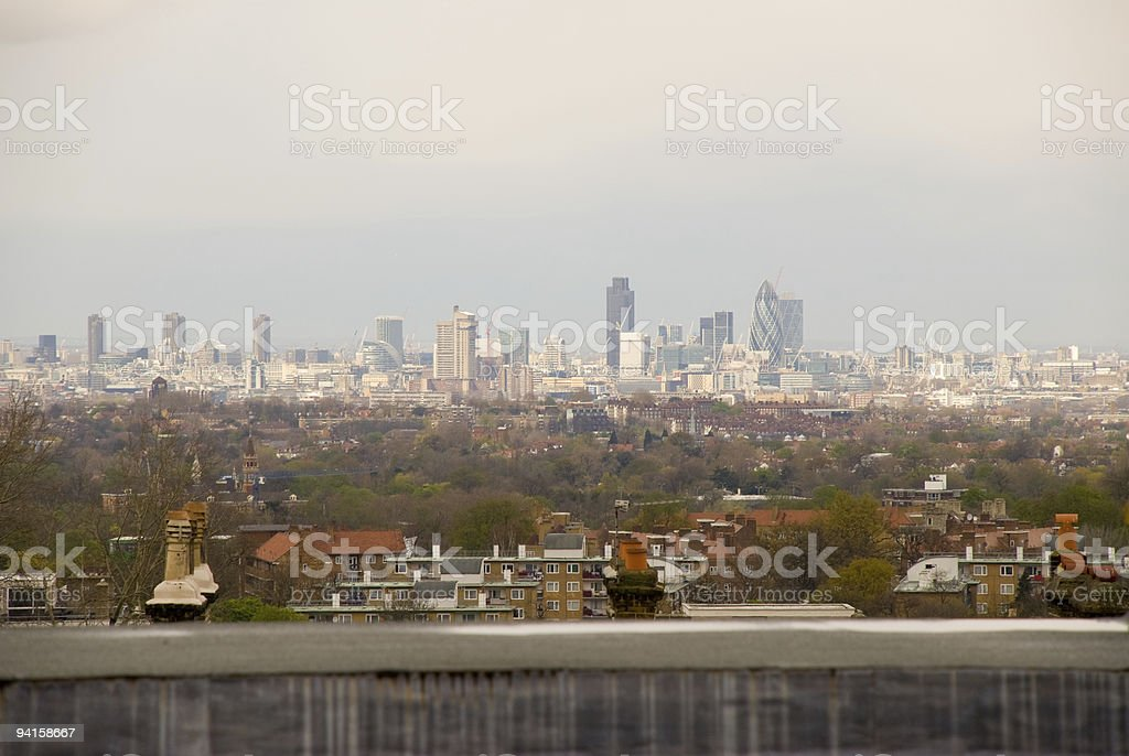 Central London from Crystal Palace stock photo