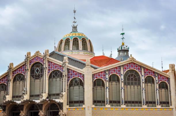 centrale markt (mercat central) in valencia, spanje - valencia stockfoto's en -beelden