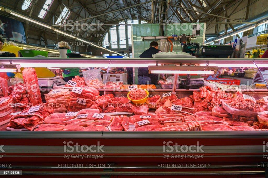 Central Market of Riga stock photo