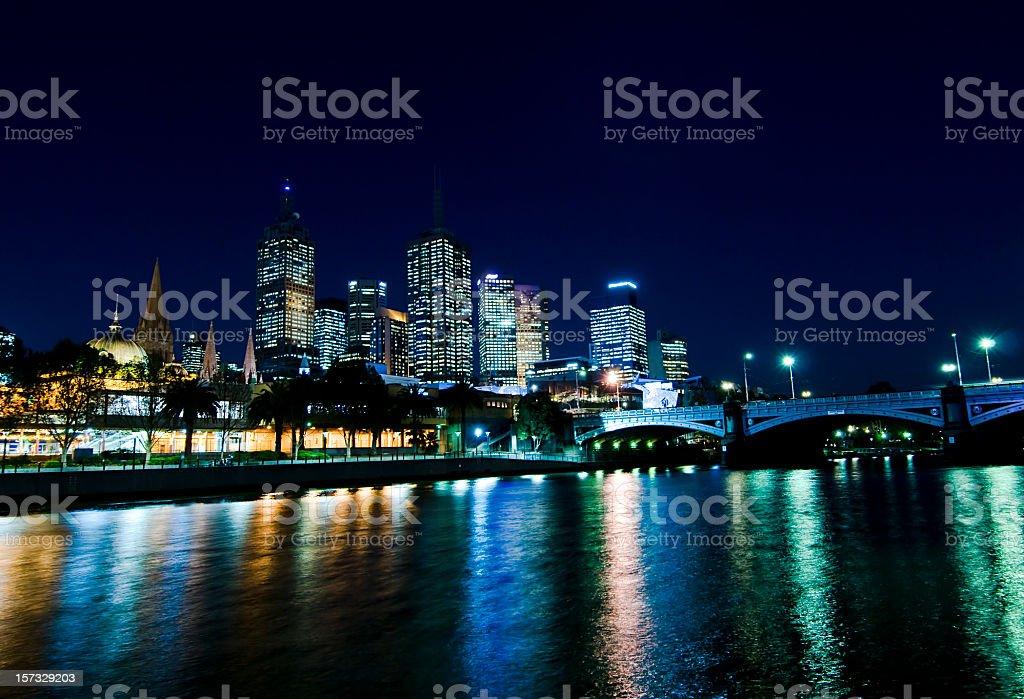 Central Melbourne stock photo