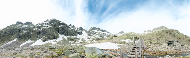 central mountain system with remains of snow - detachment stock pictures, royalty-free photos & images