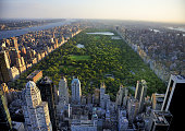 USA, New York, Manhattan, Central Park aerial view from helicopter