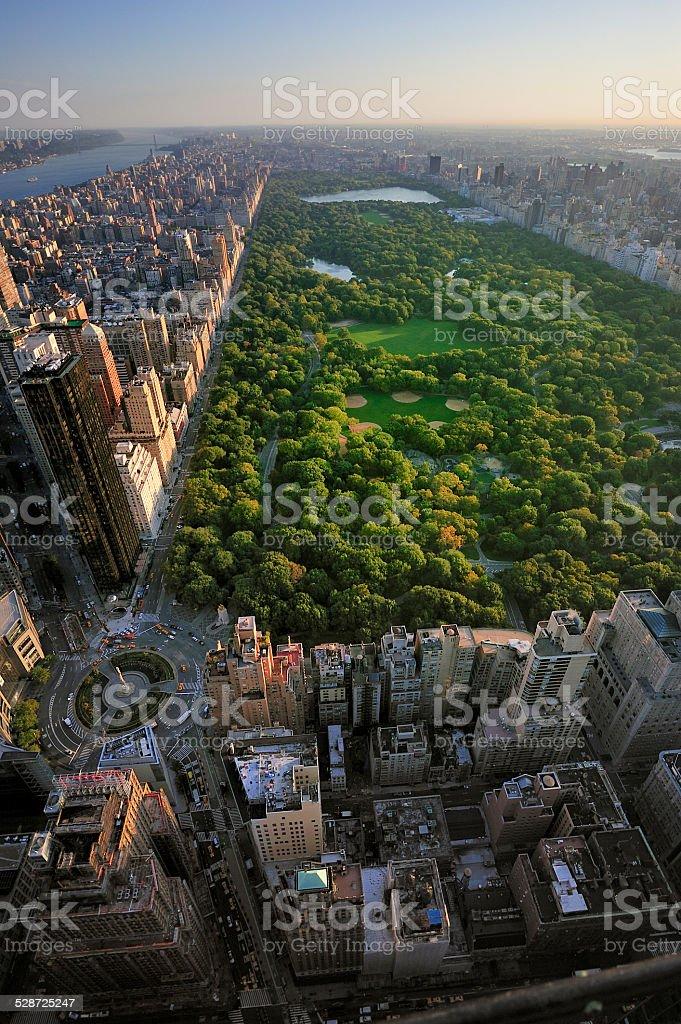 Central Park Aerial View Manhattan New York Stock Photo