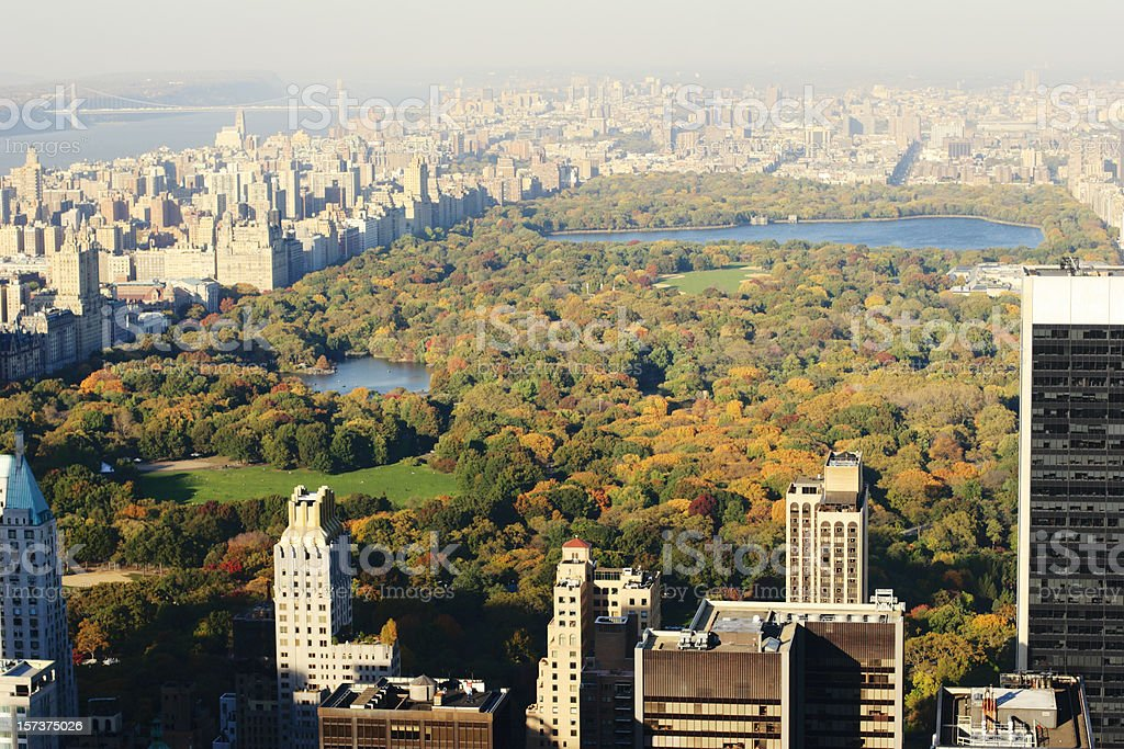 Central Park Aerial View royalty-free stock photo