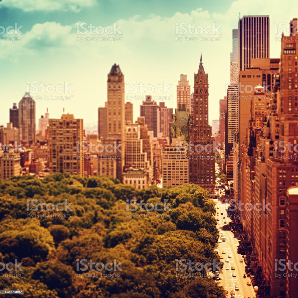 Central Park and 59th Street in Manhattan royalty-free stock photo