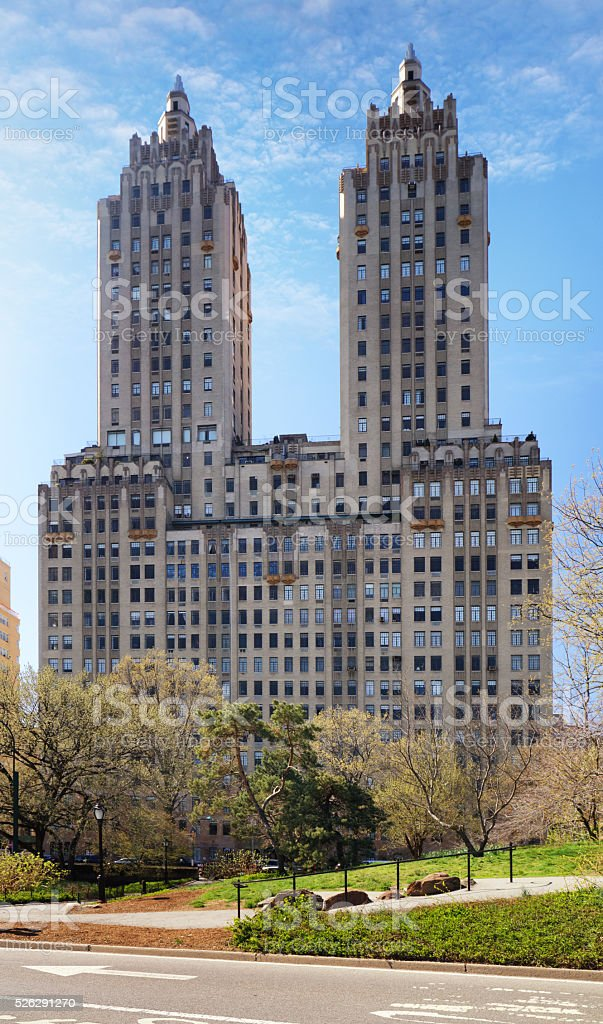 Central Park and buildings in midtown Manhattan New York City stock photo