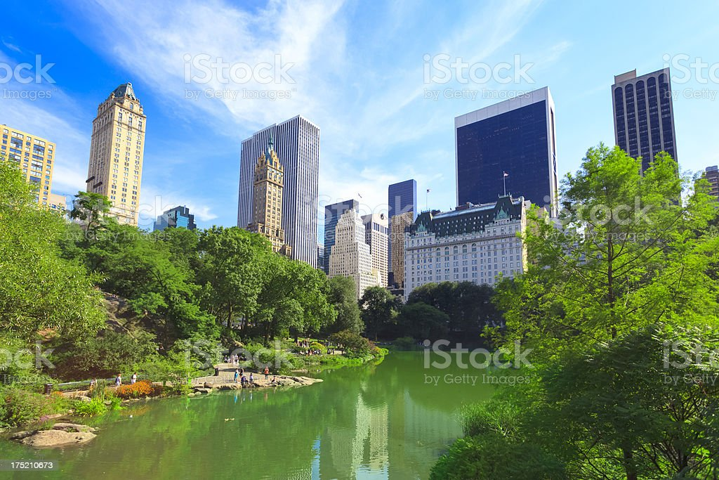 Central Park and Midtown Manhattan, NYC stock photo