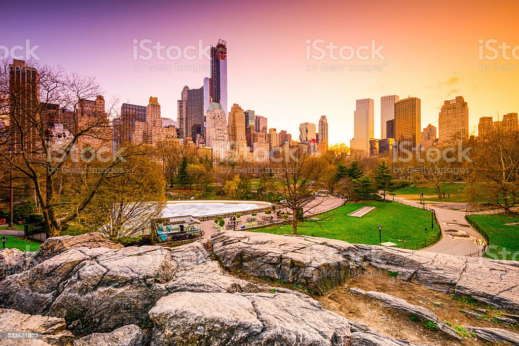 Central Park at Dusk stock photo