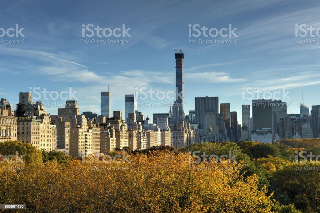 New York, Central Park, Herbst - Lizenzfrei Architektur Stock-Foto