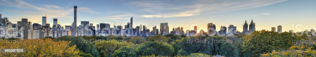 Central Park, herfst, New York - Royalty-free Architectuur Stockfoto