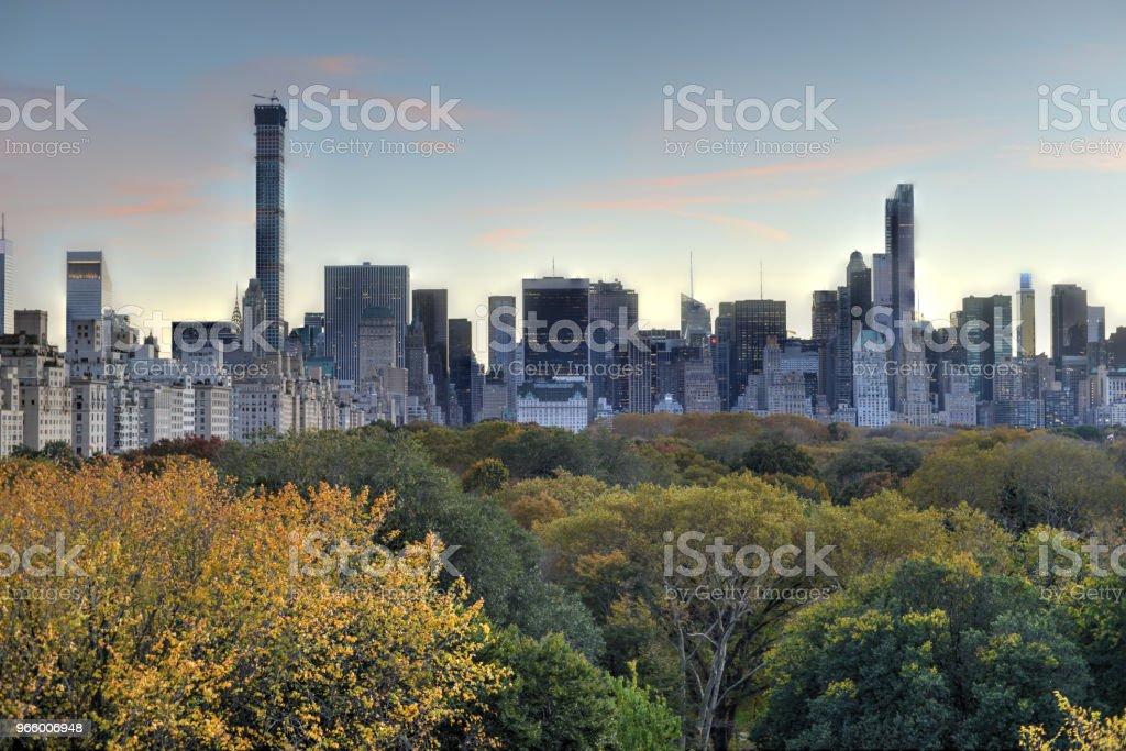 New York, Central Park, Herbst - Lizenzfrei Abenddämmerung Stock-Foto