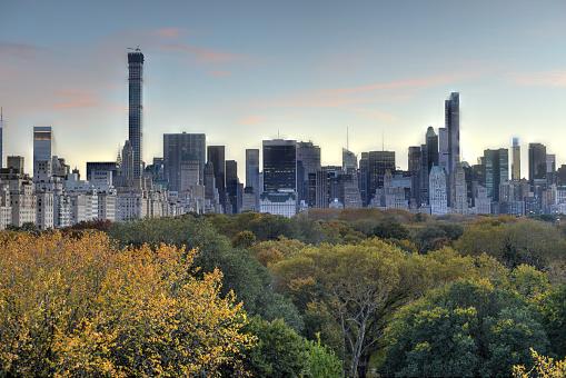New York Central Park Herbst Stockfoto und mehr Bilder von Abenddämmerung