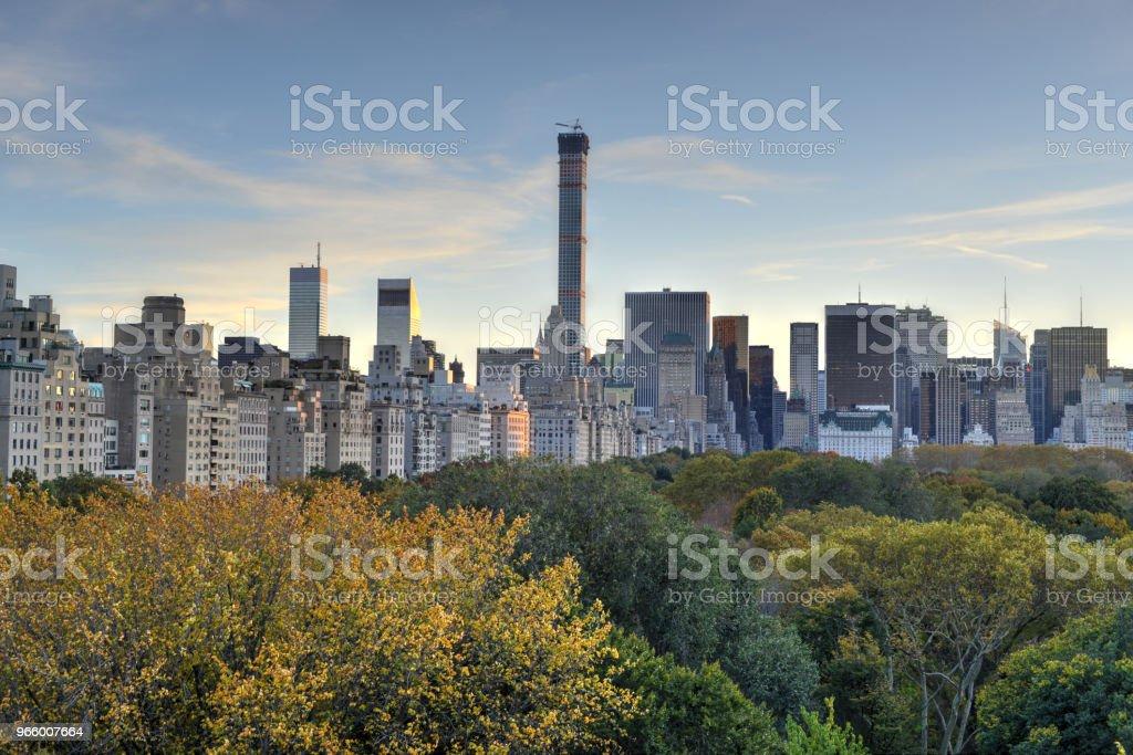 Central Park, hösten, New York - Royaltyfri Arkitektur Bildbanksbilder