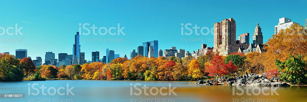 Central Park Autumn stock photo