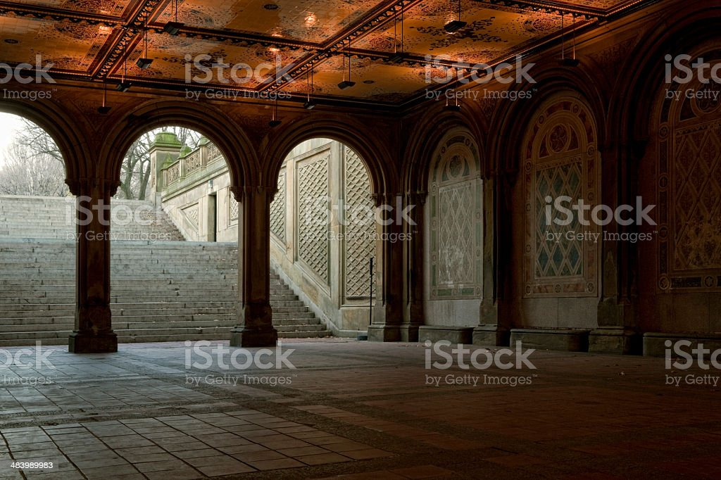 Central Park Bethesda Terrace Arcade royalty-free stock photo