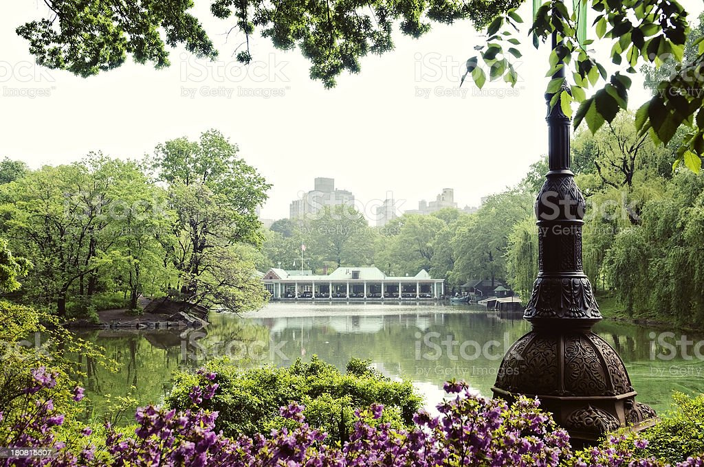Central Park Boathouse stock photo