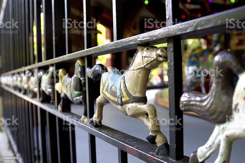 Central Park Carousel, NY stock photo