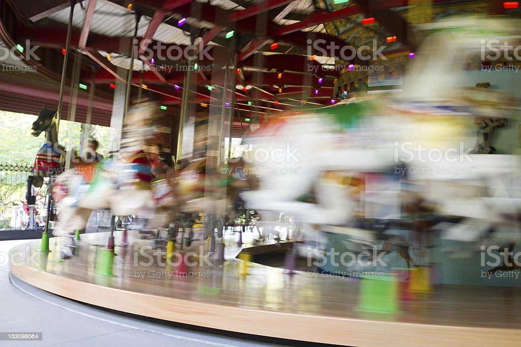 Central Park Carousel, NYC stock photo