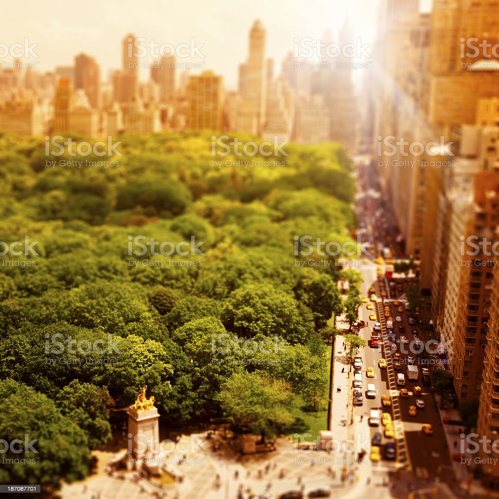 Central Park from above stock photo