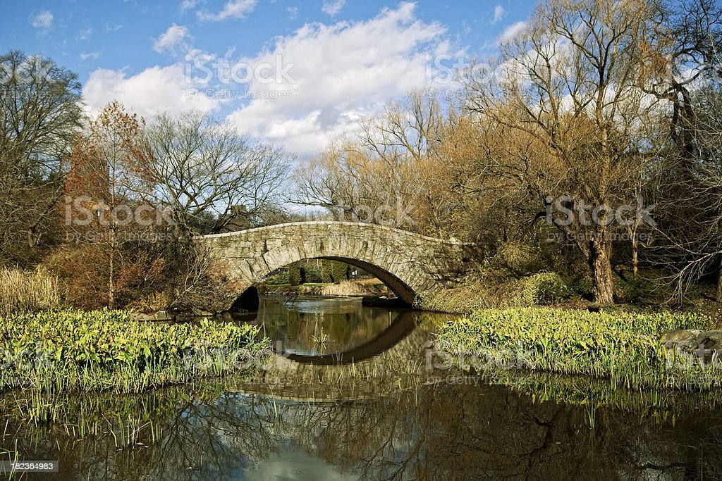 Central Park Gapstow Bridge and The Pond royalty-free stock photo