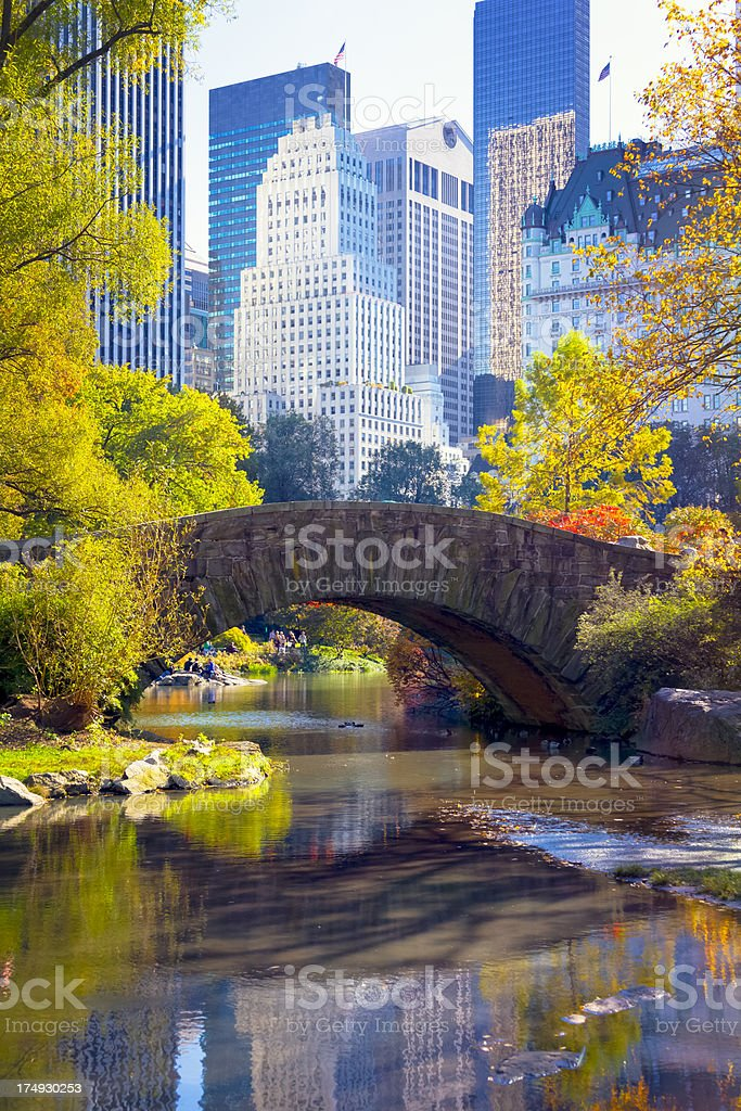 NYC Central Park Gapstow Bridge royalty-free stock photo