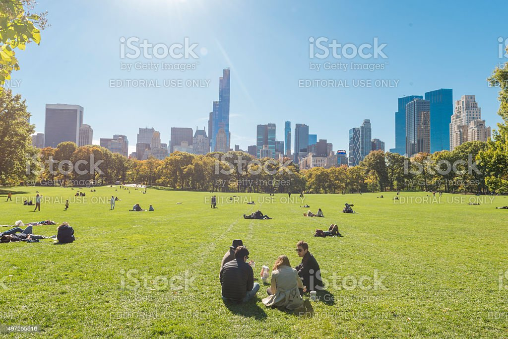 NYC Central Park Great Lawn Urban Public Green Space USA stock photo