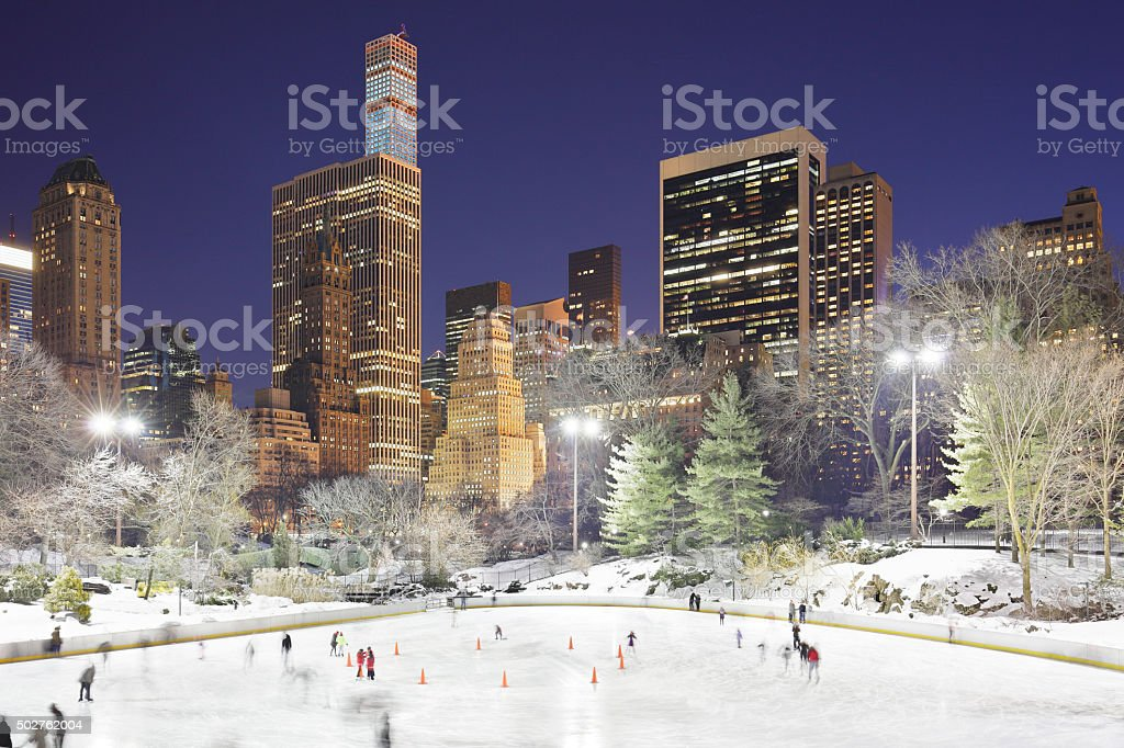 Central Park Ice Skating - New York stock photo