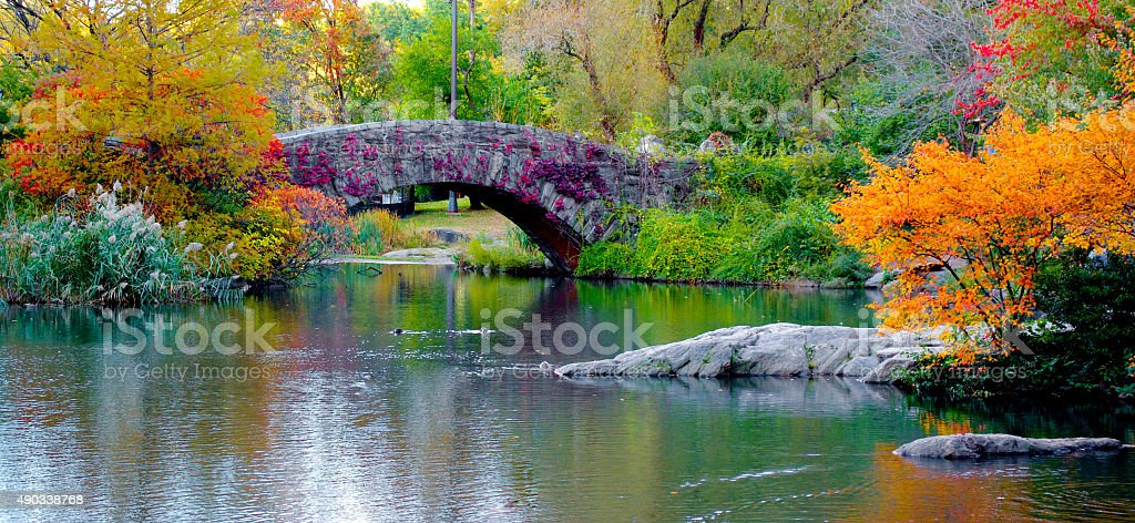 Central Park in Autumn stock photo