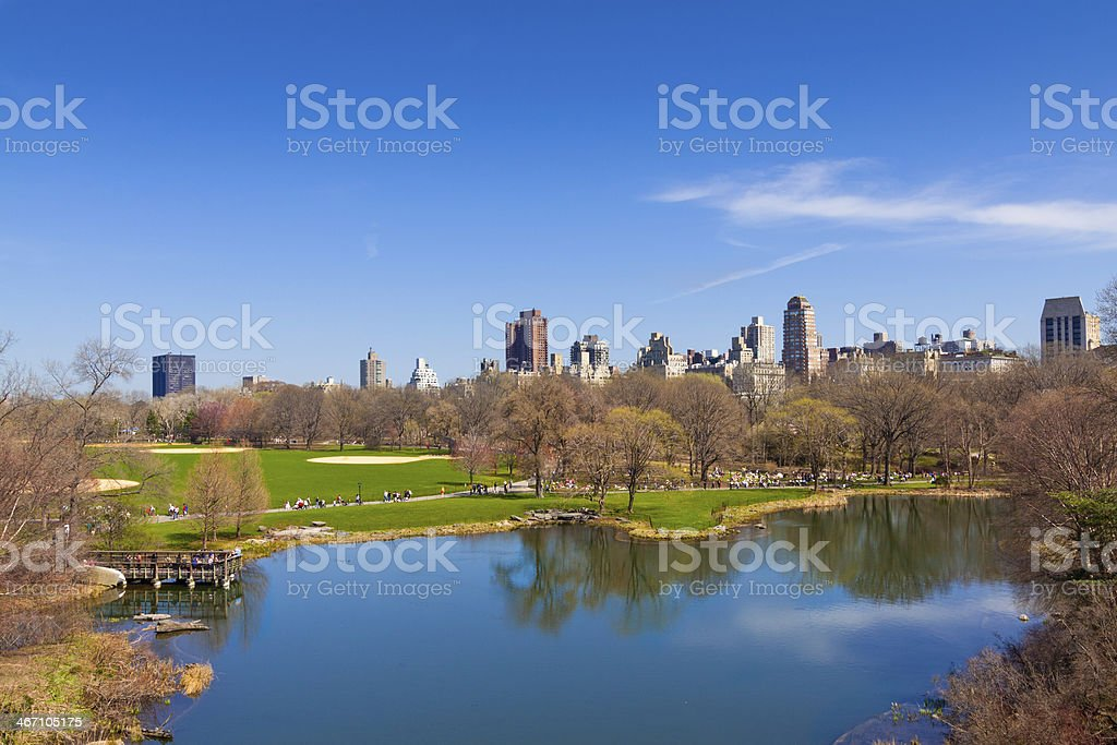 Central Park in early spring, New York City. stock photo