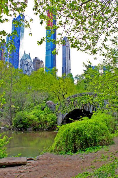 Central Park in spring. Manhattan. New York stock photo