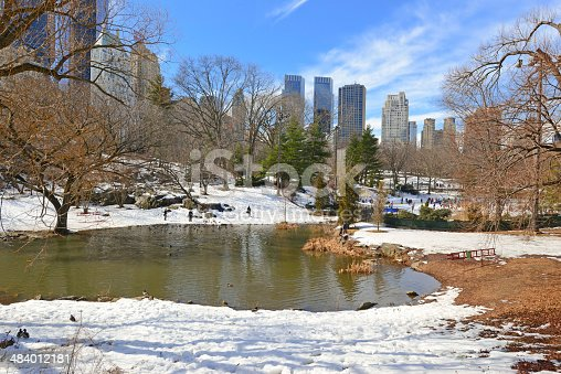 istock Central Park in the Snow. Manhattan, New York City 484012181