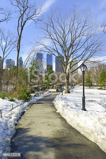 istock Central Park in the Snow. Manhattan, New York City 484012229