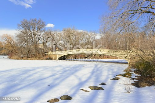 istock Central Park in the Snow. Manhattan, New York City 484012289