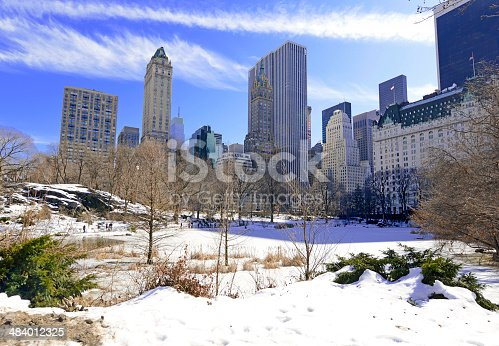 istock Central Park in the Snow. Manhattan, New York City 484012325