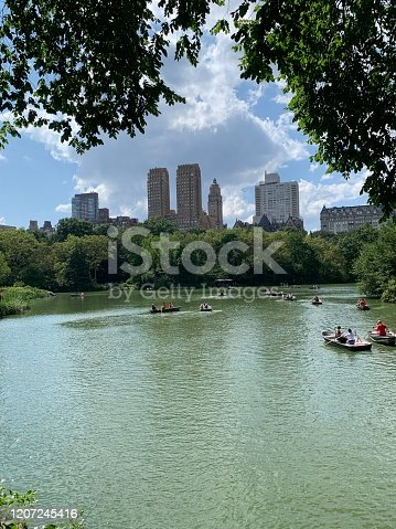 A lake in Central Park, New York City