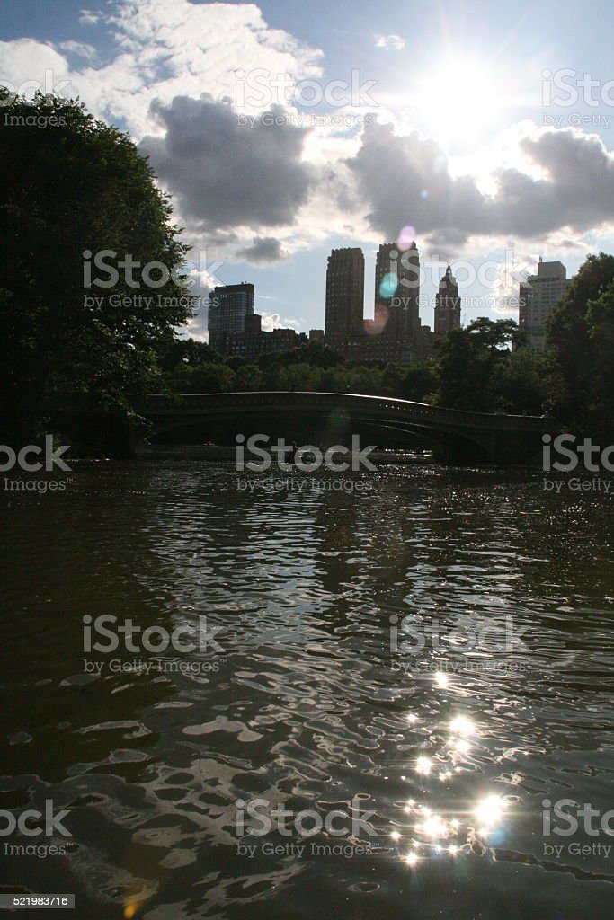 Central Park Lake stock photo