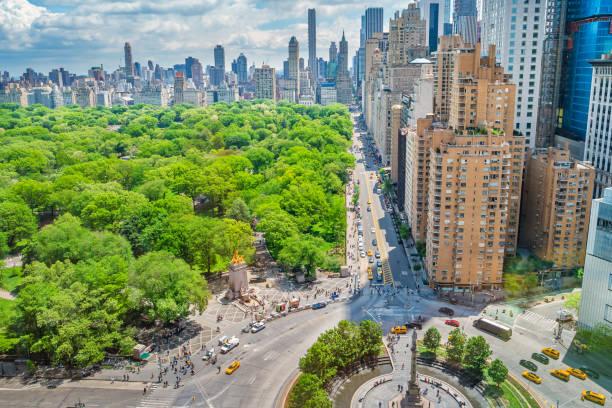 Central Park Midtown Manhattan New York City USA stock photo