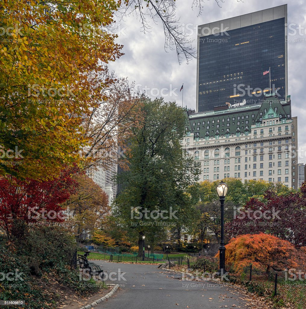 Central Park, New York City autumn stock photo