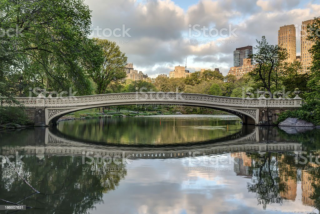 Central Park, New York City Bow bridge royalty-free stock photo