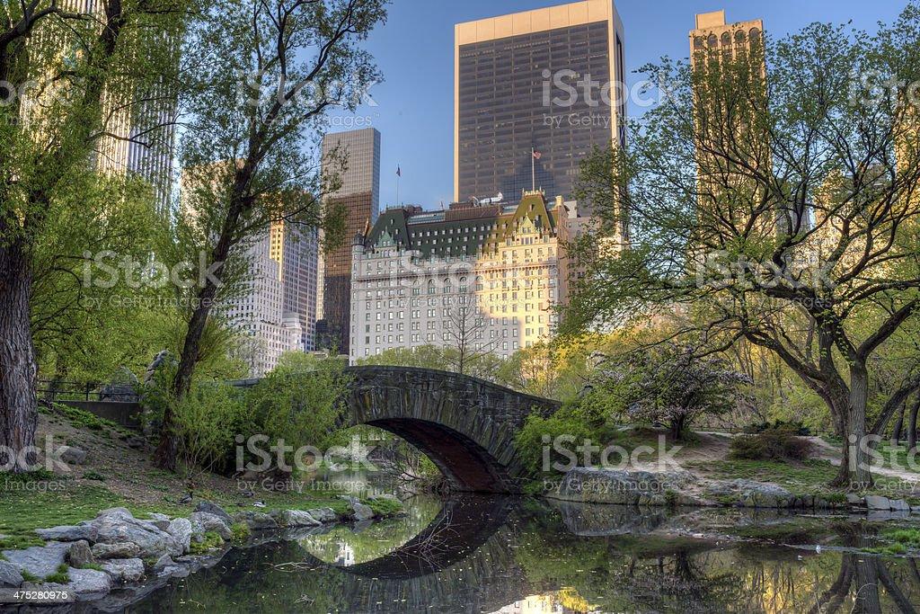 Central Park, New York City Gapstow bridge stock photo