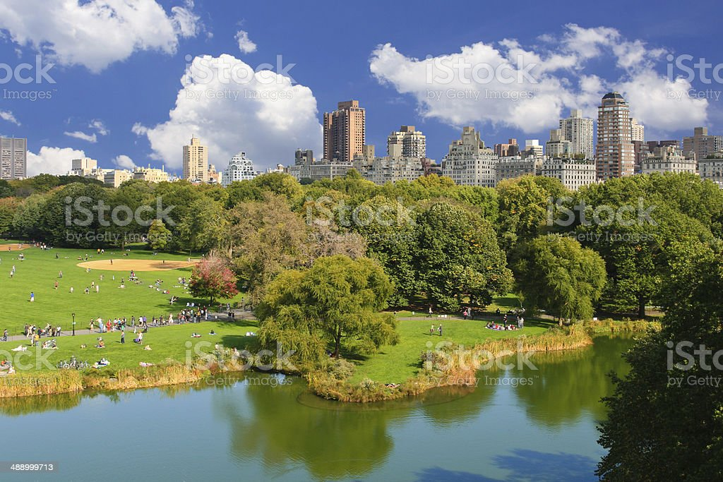 Central Park, New York City. stock photo