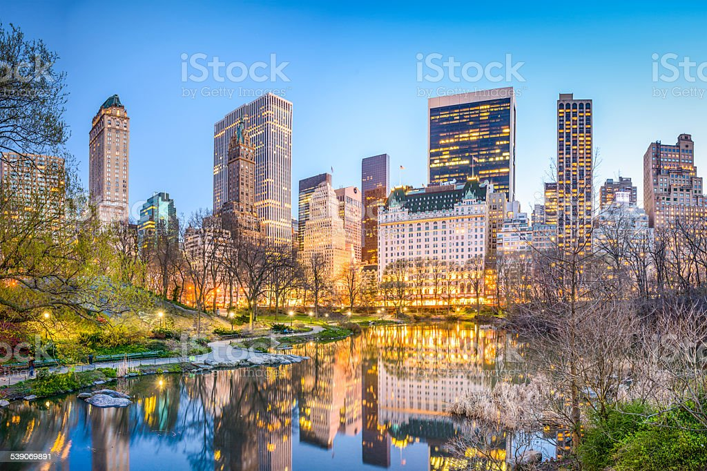 Central Park New York City stock photo